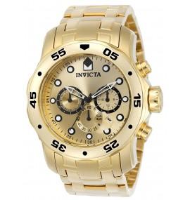 Relógio Invicta 0074 Pro Diver banhado a ouro 18k
