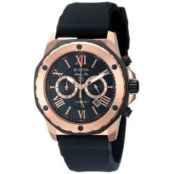 Relógio Masculino Bulova 98B104 Marine Star Calendário de relógio de aço inoxidável