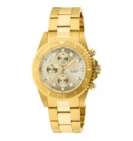 Relógio Masculino Invicta 1774 Pro Diver banhado à ouro 18k