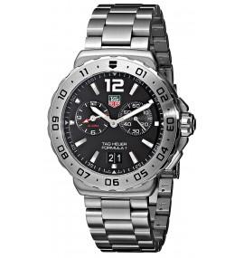 Relógio TAG Heuer Men's Black Dial Grande Date Alarm Watch
