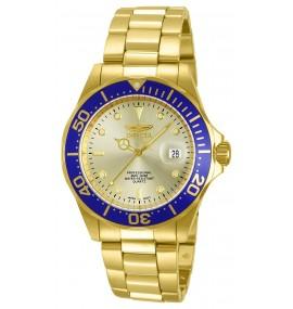 Relógio Masculino Invicta 14124 Pro Diver Dial Ouro 18k