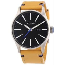 Relógio Masculino Nixon Preto Sentry Dial Tan Leather A1051602