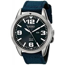 Relógio Masculino Seiko Azul Nylon Strap Solar
