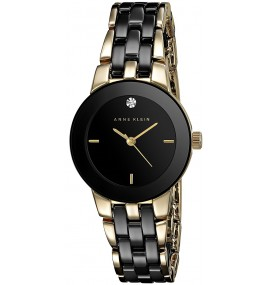 Relógio feminino Anne Klein Goldtone and Black
