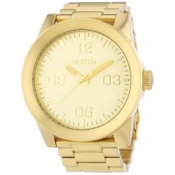 Relógio Masculino Nixon Gold Dial Stainless Steel Quartz A346-502