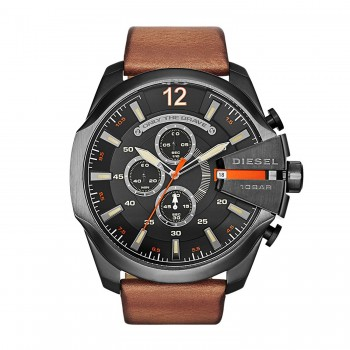 Diesel Watches Mega Chief Leather Watch