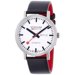 Relógio Mondaine Unisex Swiss Automatic Black Watch