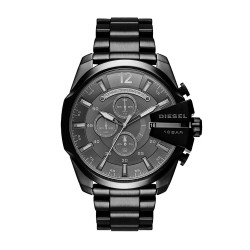 Diesel Men's DZ4355 Mega Chief Black Ip Watch