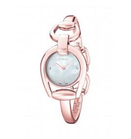 Relógio Feminino Gucci Display Analógico Swiss Quartz Rose Gold (Model:YA139508)