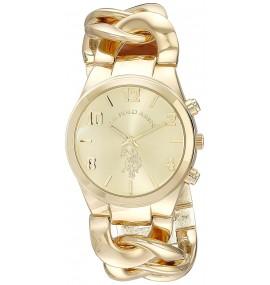 Relógio Feminino U.S. Gold-Tone Link Bracelet Watch