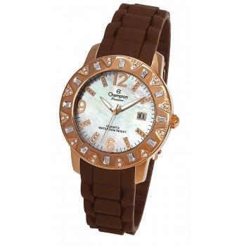 Relógio Feminino Champion Swarovski Crystals On Bezel