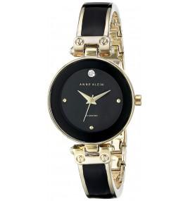 Relógio feminino Anne Klein Black and Goldtone
