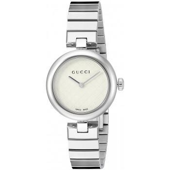 Relógio Feminino Gucci Prata Swiss Quartz Aço Inoxidável Prata (Model: YA141502)