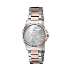 Relógio Feminino Gucci aço inoxidável Prata G-Timeless' Quartz Women's (Model: YA126544)