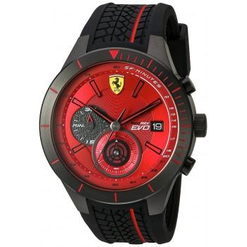 Relógio Ferrari Men's Quartz Stainless Steel and Silicone  Watch
