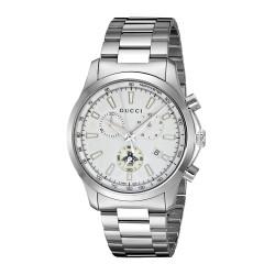 Relógio Masculino Gucci Aço Inoxidável Prata Quartz (Model: YA126472)