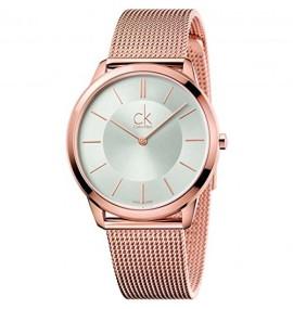 Relógio Feminino Calvin Klein Minimal Rose Gold Tone Black