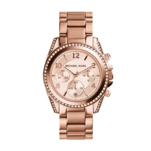 f515d2754aa Relógio Feminino Michael Kors Ouro Rosé