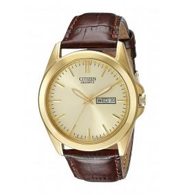 Relógio Masculino Citizen Goldtone banhado à ouro