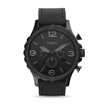 Relógio Fossil JR1354 Nate com pulseira de couro