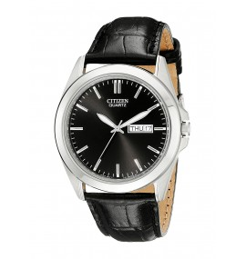 Relógio Masculino Citizen Black Leather Strap