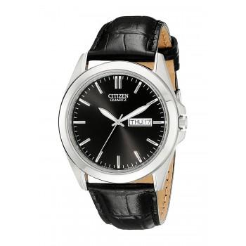 Relógio Masculino Citizen Black Leather Strap