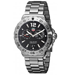Relógio TAG Heuer Men's Black Dial Grande Date Alarm Watch