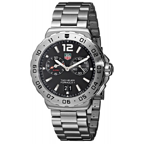 cd0407ae48a Relógio TAG Heuer Men s Black Dial Grande Date Alarm Watch