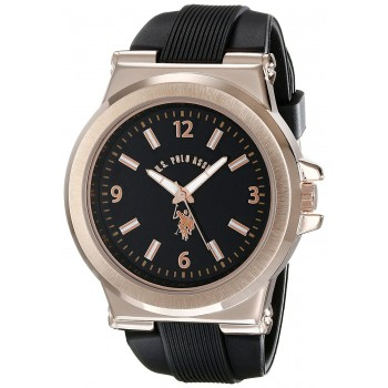 U.S. Polo Assn. Sport Masculino Rose Gold-Tone and Black