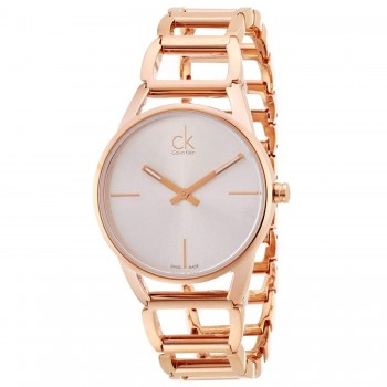 Relógio Calvin Klein Feminino Ouro Rosé K3G23626