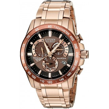 Relógio Masculino Citizen Eco Drive Rose Goldtone