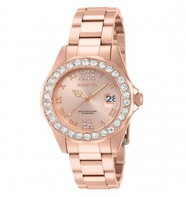 Relógio Invicta Feminino 15253 Pro Diver Ouro Rosé 18k