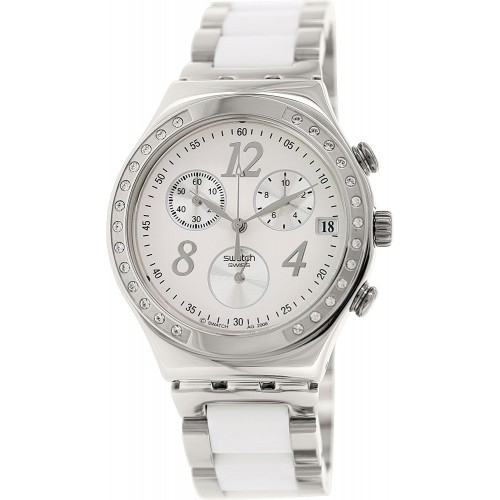 75a1beb13c3 Relógio Swatch Dreamwhite Chronograph Unisex Watch