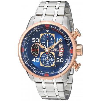 Relógio Masculino Invicta AVIATOR com Ouro Rosé 18k