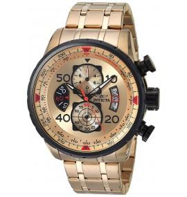 Relógio Invicta 17205 Aviator com Ouro 18k