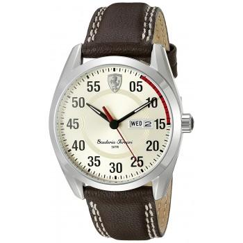 Relógio Masculino Ferrari Quartz Brown Watch