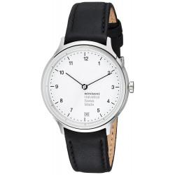 Relógio Mondaine Unisex Helvetica Swiss Quartz Black Watch