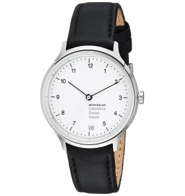 Relógio Mondaine Unisex Helvetica Swiss Quartz Black Watch