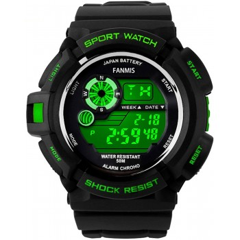 Relógio Masculino Fanmis S-Shock Multi Function Digital LED