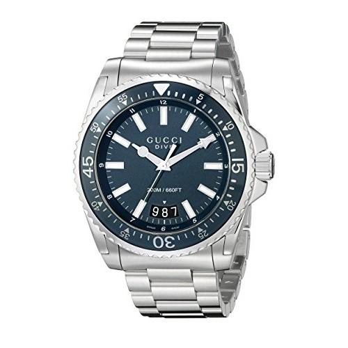 5d803dd284c Relógio Masculino Gucci Display Analógico Quartz Prata (Model YA136203)