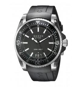 Relógio Masculino Gucci Display Analógico Preto (Model:YA136204)