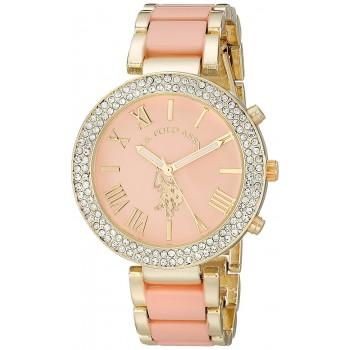 Relógio Feminino U.S. Polo Gold-Tone and Pink