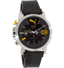 Relógio Masculino Puma Black Rubber Quartz Watch