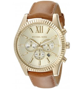 Relógio Masculino Michael Kors  Goldtone Lexington MKGL