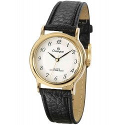 Relógio Feminino Champion Tone Stainless Steel With Black Leather Strap