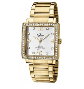Relógio Feminino Champion Watch Rectangle Gold