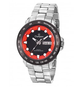Relógio Masculino Champion Red And Black Dial