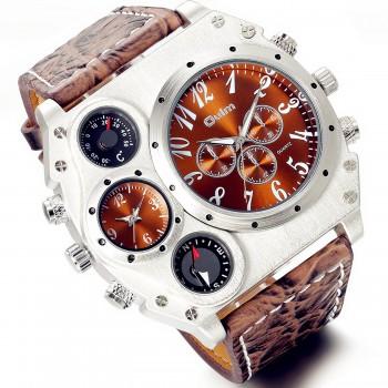 Relógio Masculino Lancardo Dark Brown