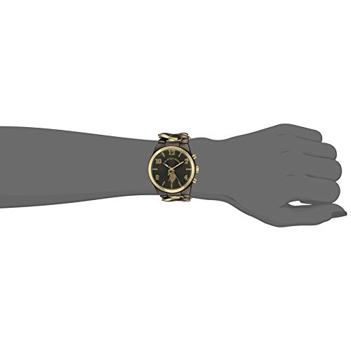5d1fe251ae2 Relógio Feminino U.S. Polo Gold and Black
