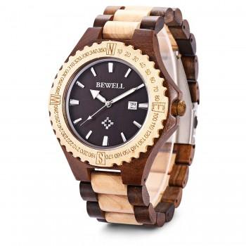 Relógio Masculino Bewell Madeira